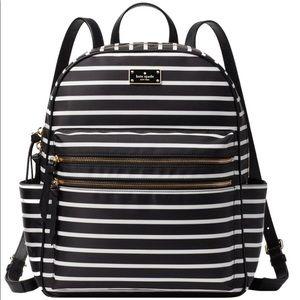 Kate Spade Bradley Stripe Black & White Backpack